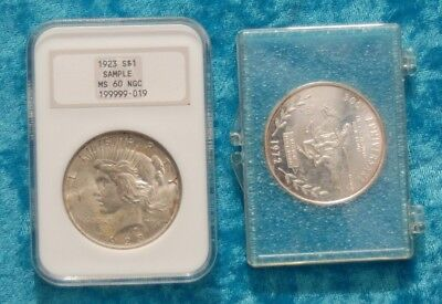 Two silver coins from the USA