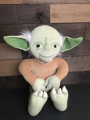 STAR WARS PLUSH YODA 20 INCHES TALL EXCELLENT COLLECTIBLE LUCAS FILM No Robe