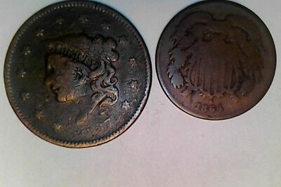 1837 and 1864 cents
