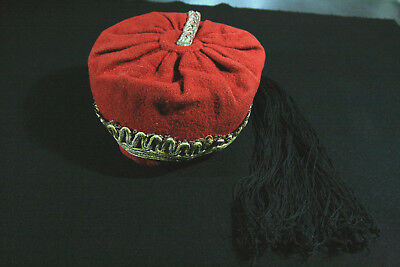 GREEK ANTIQUE  EPIRUS TRADITIONAL MALE FEZ  circa 1930 !