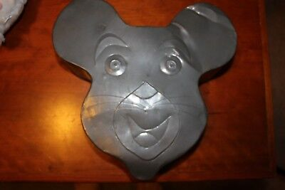 Very Rare Antique 1930's Cake Pan Shaped Like Primative Mickey Mouse Head Look !