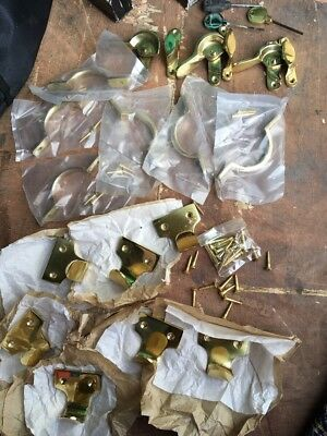 Job Lot Brass sash window Furniture Handles Catches See Pics
