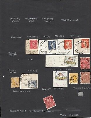 Western Australia page of  postmarks T