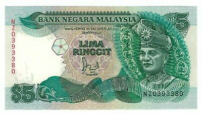1986 Malaysia $5 Ringgit NZ Replacement Note - UNC - Rare