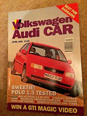 VOLKSWAGEN AUDI CAR MAGAZINE monthly April 1995 Polo tested