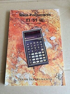 Texas Instruments TI-51-III Manuel D'Utilisation French Manual 1978