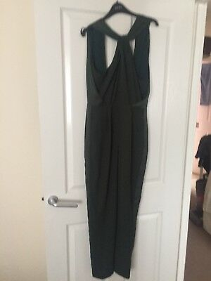 Asos Green Twist Front Backless Jumpsuit 10