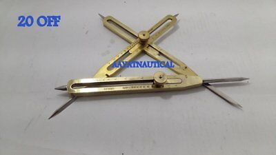 "Brass Antique Drafting Tool 12"" Proportional Divider Scientific Instrument 20 %"