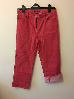 Boden ladies Size 12R 3/4 Red Jeans