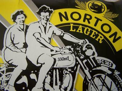 Norton lager stubby bottle Holgate Brewhouse Norton motorcycle riders beer empty