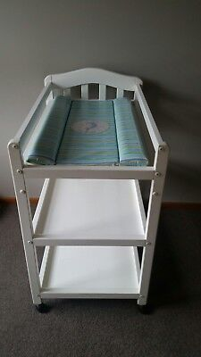 Baby change table, used, white, 3 tier