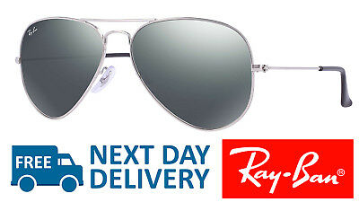 1014e66b89 RAY-BAN SUNGLASSES AVIATOR 3025 W3277 Silver Mirror Medium 58mm ...