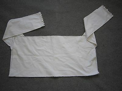 Povoj Balkan Eco Cotton/linen Baby Pampers Dress Antique White, Beads Lace Baby