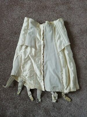 Vintage 1960s ladies white corset size 28 inch waist with 6 suspenders