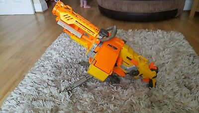 Nerf havok fire ebf 25 gun, stand, ammunition box and 14 bullets rare
