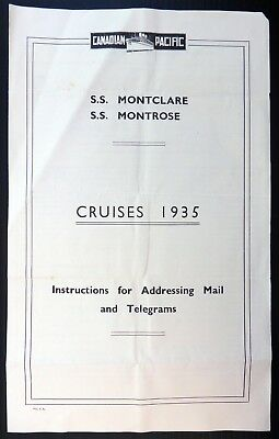 1935 Canadian Pacific Addressing & Telegraph Installations Document Folded BC674