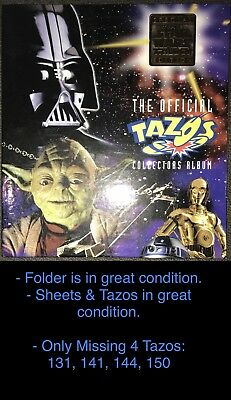 The Official Tazos Collectors Star Wars Album With Hologram Rare Tazos