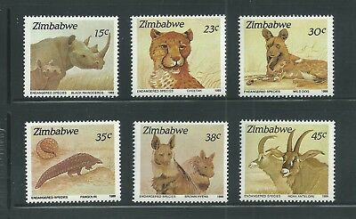 Zimbabwe Scott # 594-599 MNH Endangered Species