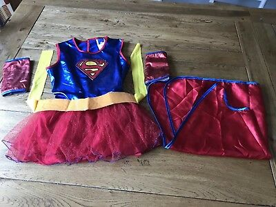 DC Marvel Rubies Supergirl Girls Costume Size Small (3-4)