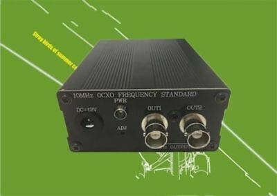 10MHz OCXO Frequency reference clock BNC/Q9 with power adapter