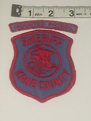 Illinois Police Patch - Kane County Sheriff with Mounted Patrol Rocker