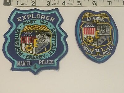 Illinois Police Patch - Manito Police Department Explorer Set