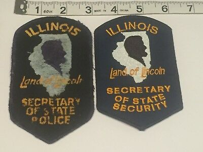 Illinois Police Patch - Illinois Secretary of State Police & Security Set OLD