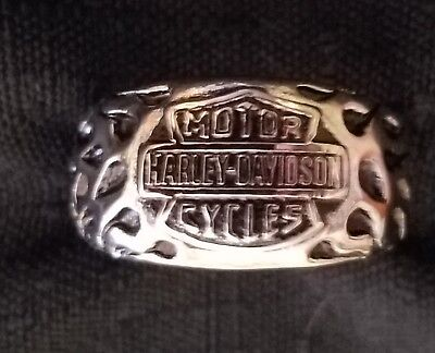 stainless steel harley ring sz 7