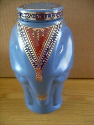 Wade Williamson & Magor Porcelain Elephant Tea Caddy Blue Unused Old Stock