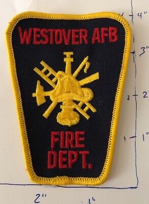Westover AFB Chicopee Massachusetts Fire Department Patch MA Air Force Rescue