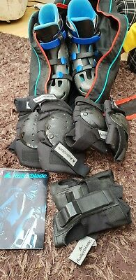Size 8 Roller Blades inc Bag, Knee, Arm and Wrist pads