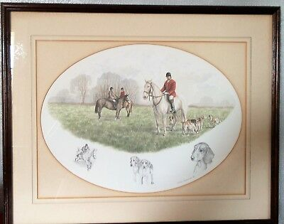 tableau gravure chasse a courre Nigel Hemming