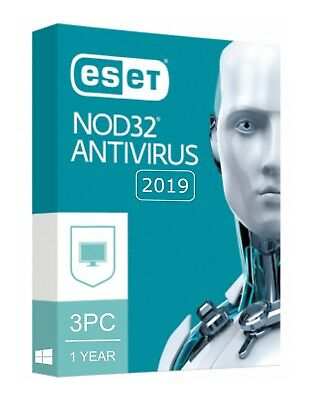 Eset NOD32 Antivirus 2019 V12 / 3 PC 1 YEAR / EMAIL DELIVERY (ACTIVATION CODE)
