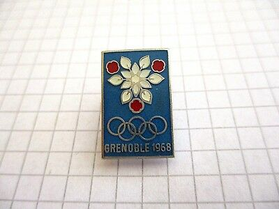 OLYMPIC GAMES PIN BADGE INSIGNE JEUX OLYMPIQUES GRENOBLE 1968 b2