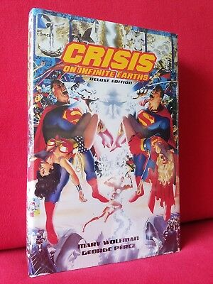 Crisis on Infinite Earths Deluxe Hardcover! HC Wolfman Perez 2015 DC NEW SEALED!