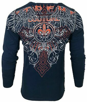 Xtreme Couture by AFFLICTION Men THERMAL T-Shirt RIVETER Biker Wings MMA UFC $58
