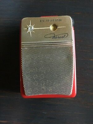Early 60s RED Marvel 6YR-19 with Case Untested