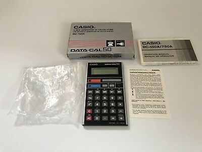 VINTAGE CASIO CALCULATOR DATA CAL 50 DC - 150A TELEPHONE DATABANK SECRECY Boxed