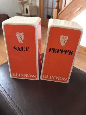 Vintage Guinness Salt And Pepper Collectable Pots