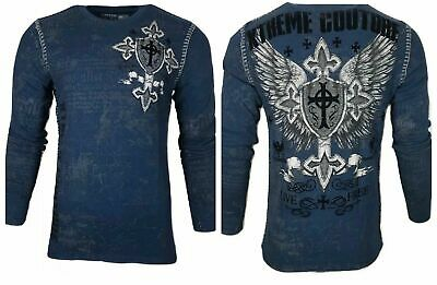 Xtreme Couture by AFFLICTION Men THERMAL T-Shirt PRO FAITH Biker MMA UFC $58