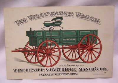 1890's Winchester & Partridge Tuckwood Wind Mills Whitewater Wagons Trade Card