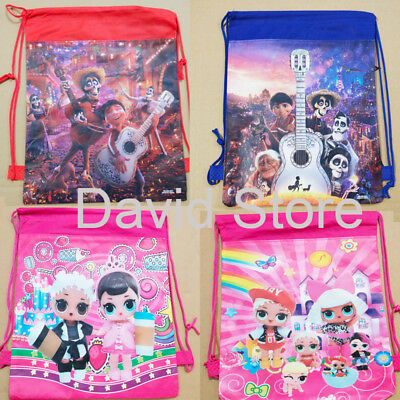 COCO LOL Drawstring Backpack Girls PE Swimming Birthday Party Goody Gift Bag