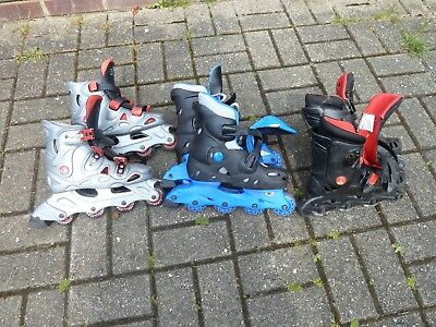 3 pairs of inline skates. All size 2 - 5