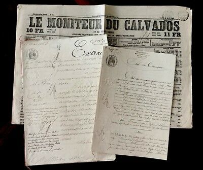 Collection of Old Historical Manuscripts and a Newspaper