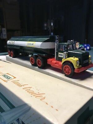 Vintage 1968 Hess Toy Truck Gasoline Tank Trailer With Original Box