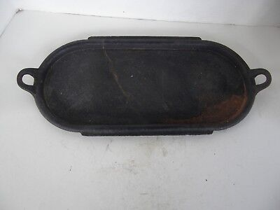 Antique Large Deep Cast Iron Griddle Marked 8 P