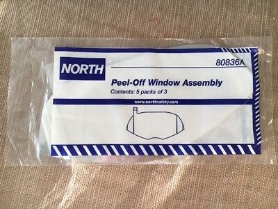 NORTH BY HONEYWELL 80836A -5 Packs of 3 Fog-Resistant Peel-Off Window Assembly