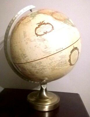 Vintage Replogle 12inch Diameter Globe. World Classic Series. Metal Stand
