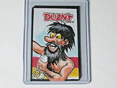 2018 Wacky Packages Go To The Movies Duzn't Do Nothin' Sketch Card by Floydman