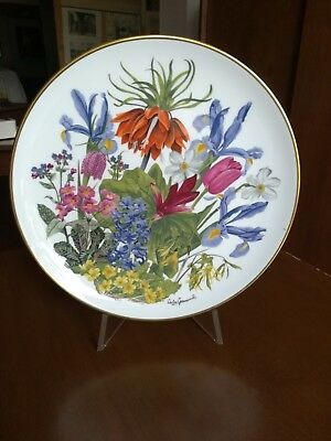 "Piatto collezione Porcellana Franklin Porcelain ""The Flowers of the Year"""